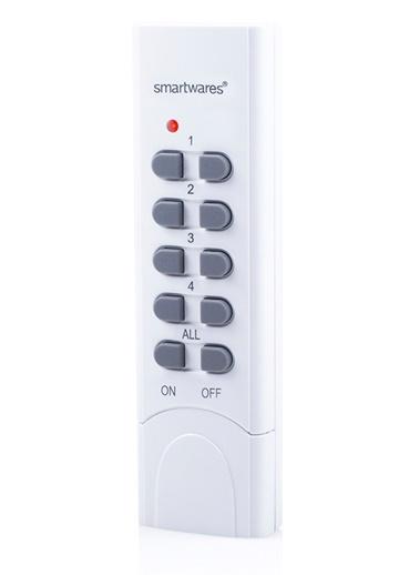 Smartwares Akıllı Ev İç Mekan 4 Kanallı Uzaktan Kumanda + Master Fonksiyonu -Sinyal İletici   Renkli